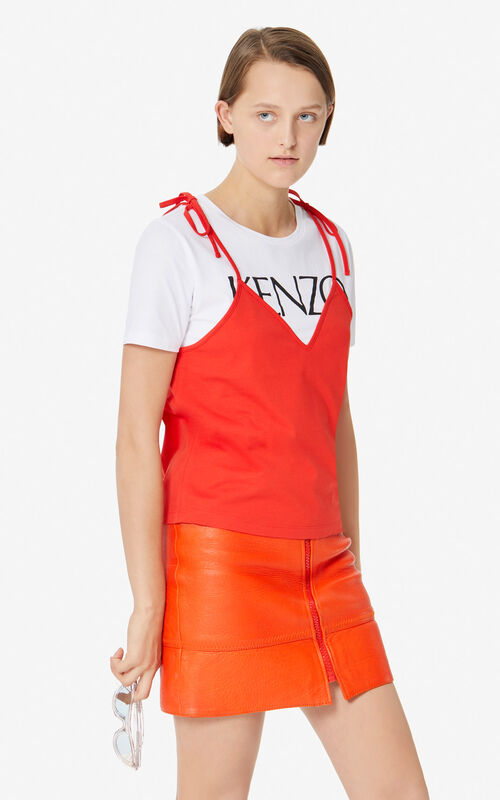 MEDIUM RED 2-in-1 T-shirt for women KENZO