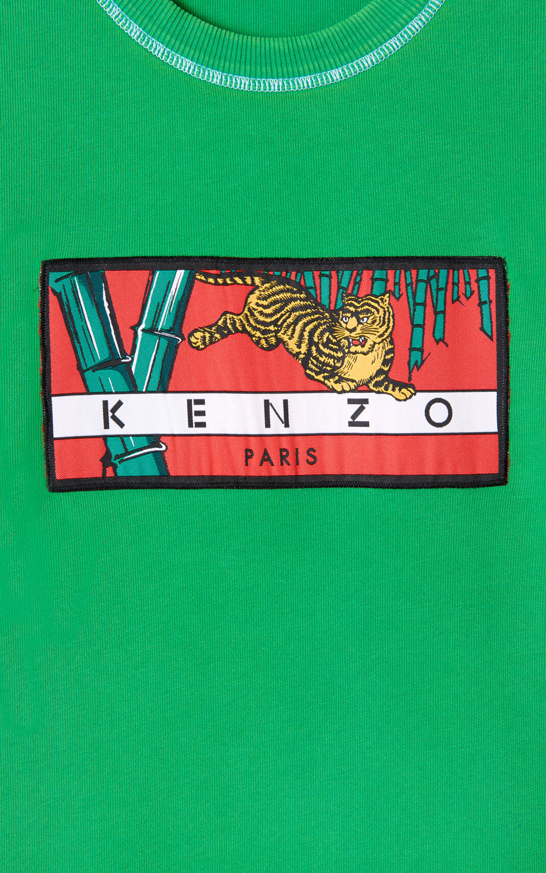 GRASS GREEN 'Bamboo Tiger' sweatshirt for men KENZO