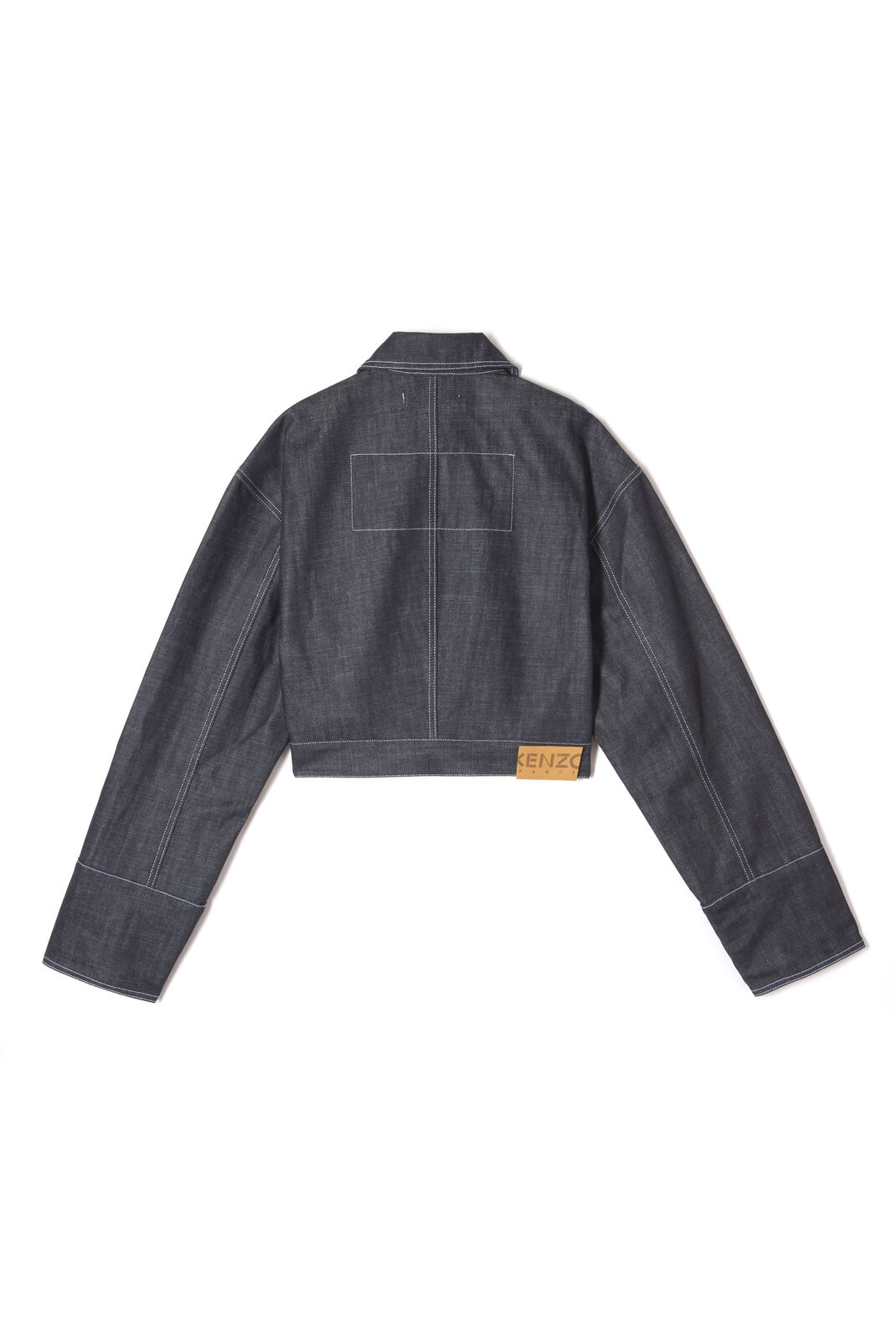 NAVY BLUE Cropped denim jacket for women KENZO