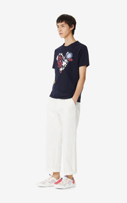MIDNIGHT BLUE 'Lucky Star' T-shirt for men KENZO
