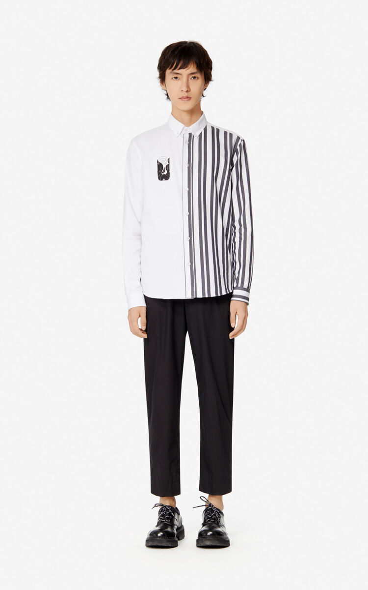 WHITE 'Mermaids' casual shirt for men KENZO