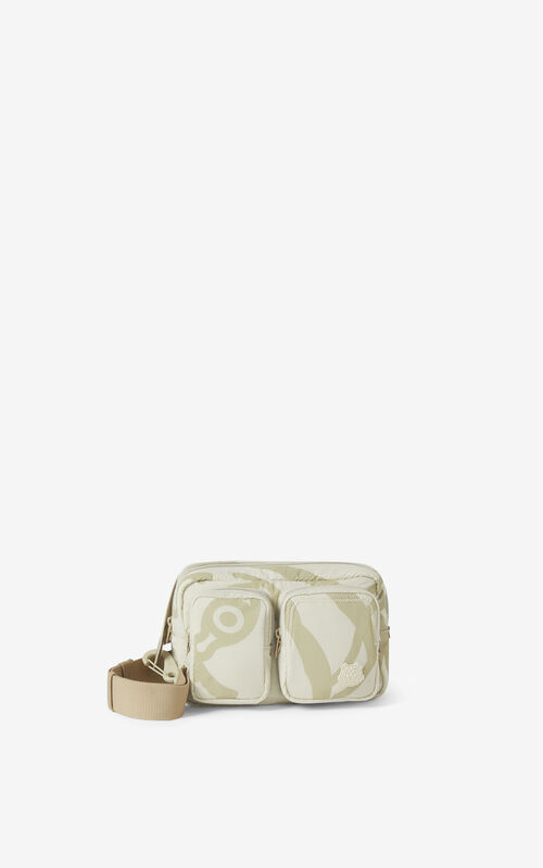 TAN K-Tiger belt bag for women KENZO