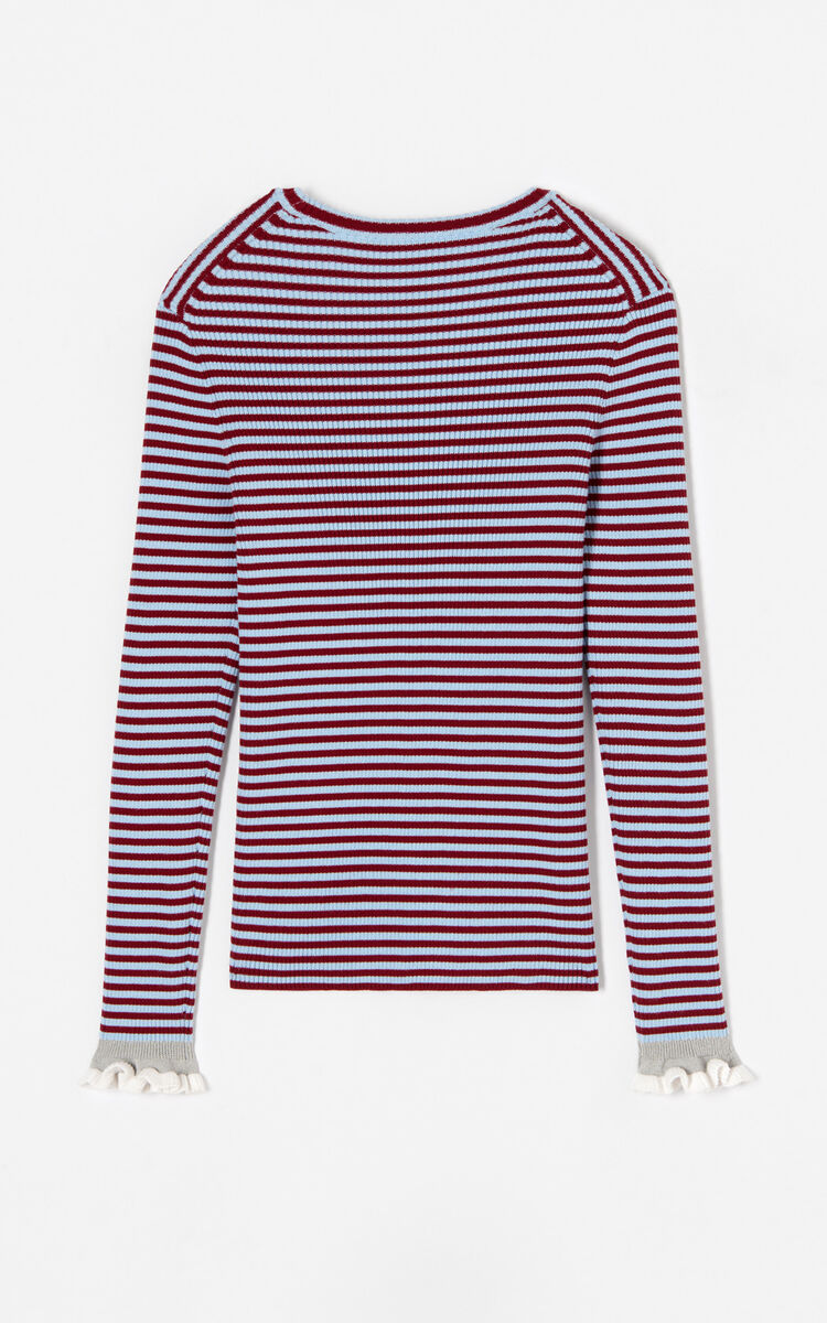 SKY BLUE Striped knitted top for women KENZO
