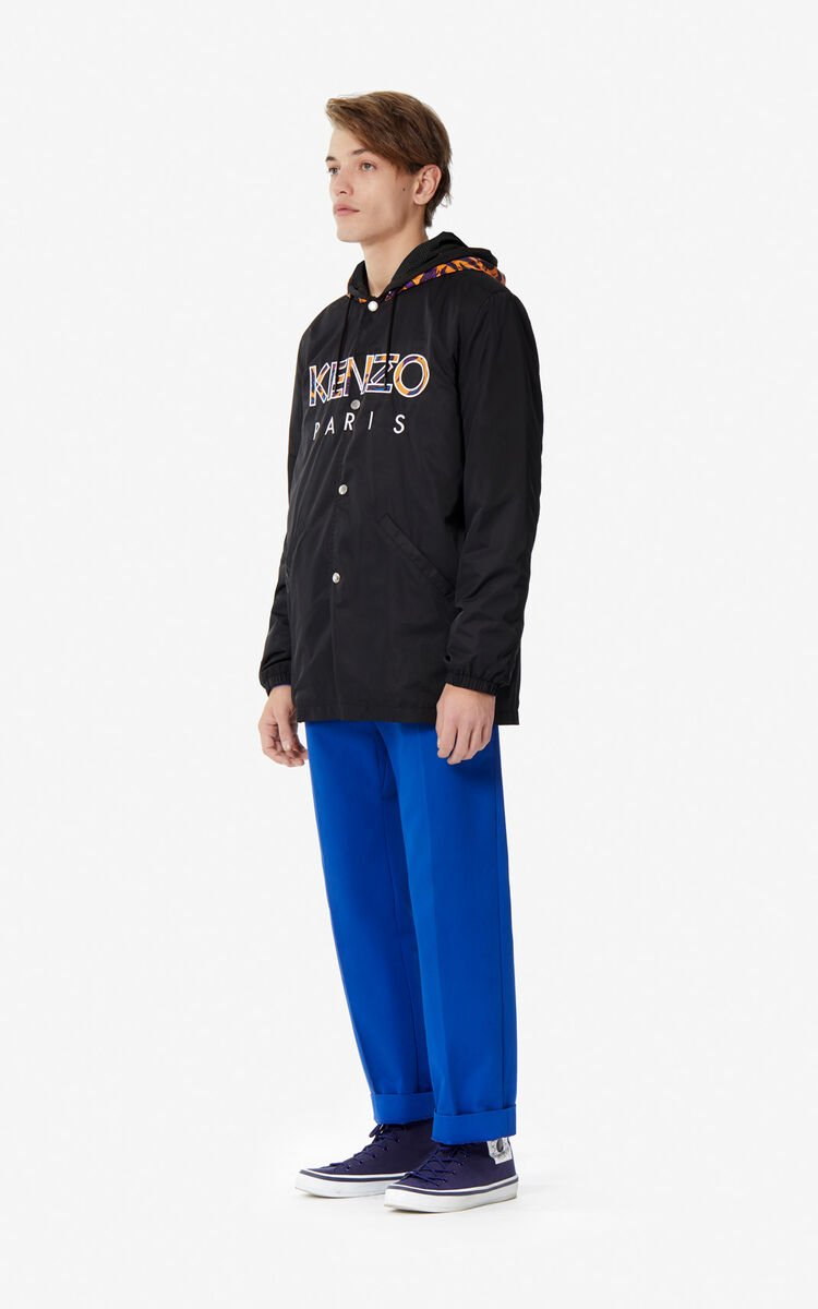 BLACK KENZO Paris parka for men