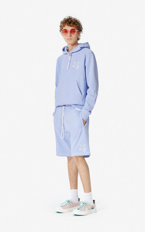 LAVENDER Hooded 'Compass' sweatshirt for men KENZO