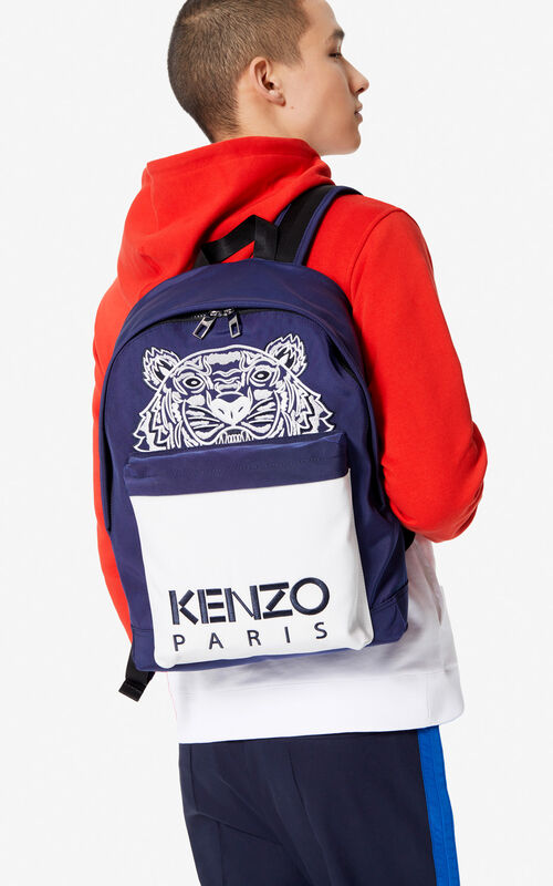 c64a0cd7 MIDNIGHT BLUE Large 'Colorblock Tiger' backpack for women KENZO