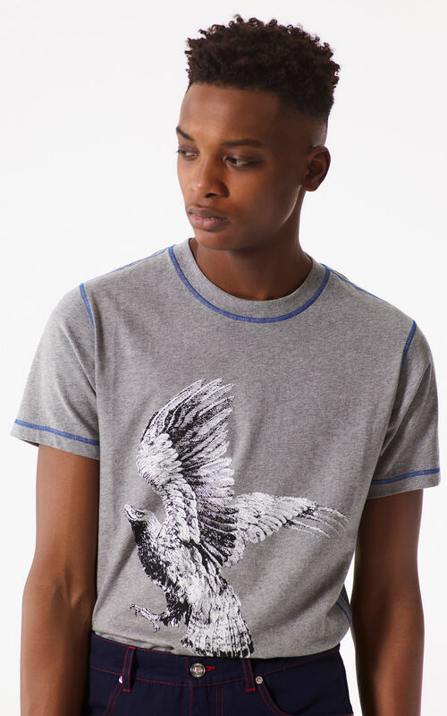 DOVE GREY 'Eagle' T-shirt for men KENZO