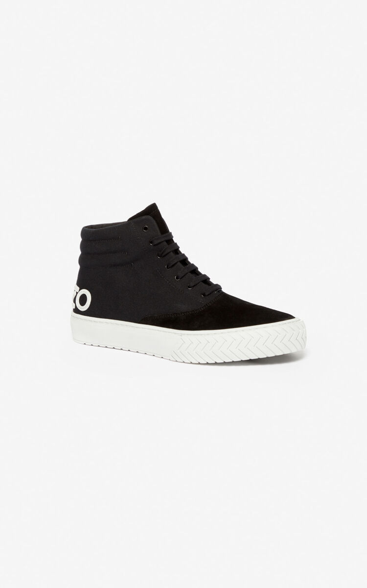 BLACK K-Skate high-top sneakers for women KENZO