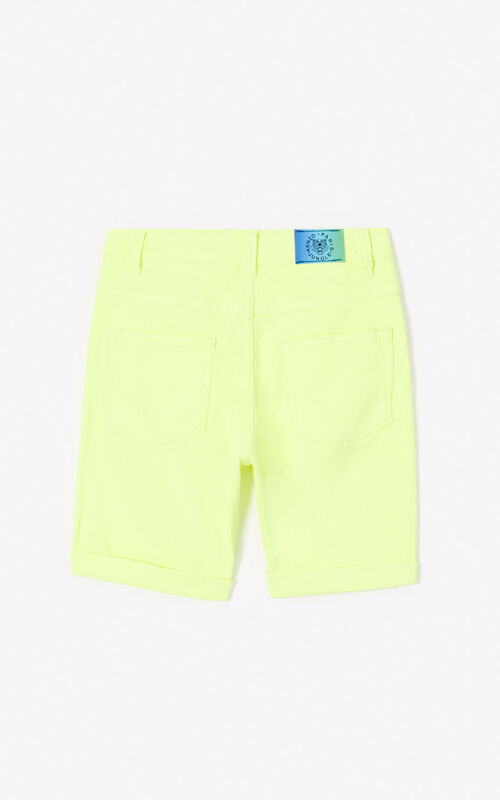 GOLDEN YELLOW 'Cali Party' Denim Shorts for men KENZO