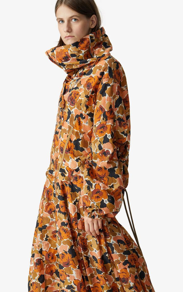 PEACH Rose Camo' parachute dress for women KENZO