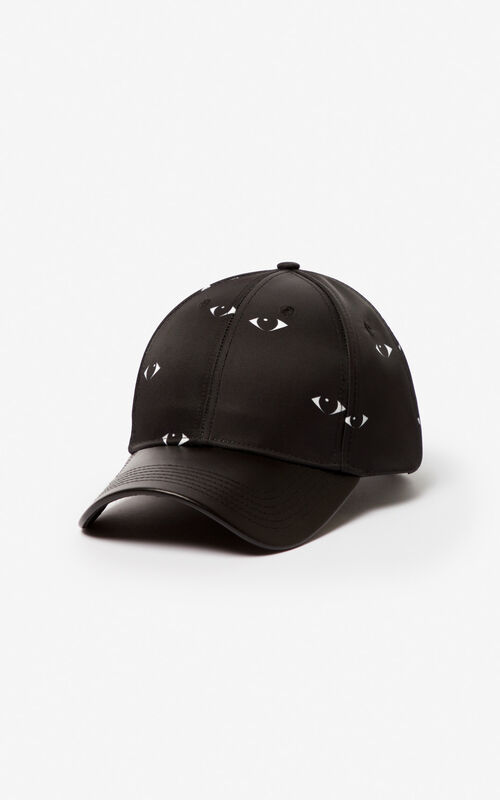 BLACK Multi Eye cap for unisex KENZO