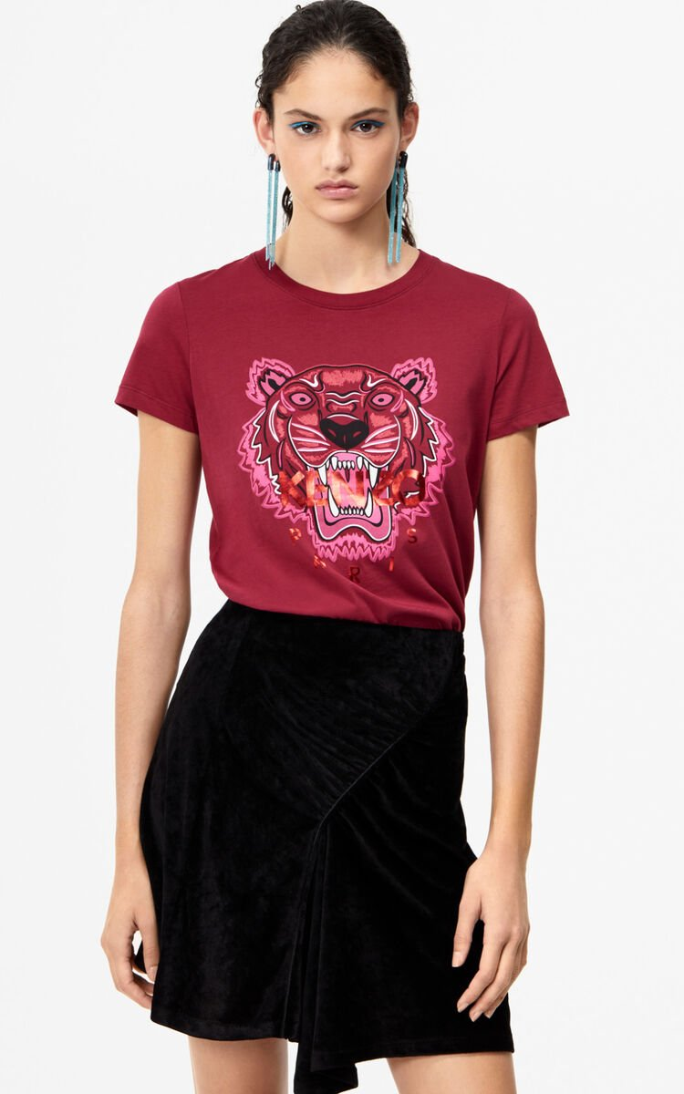 PEONY RED Tiger T-shirt for women KENZO