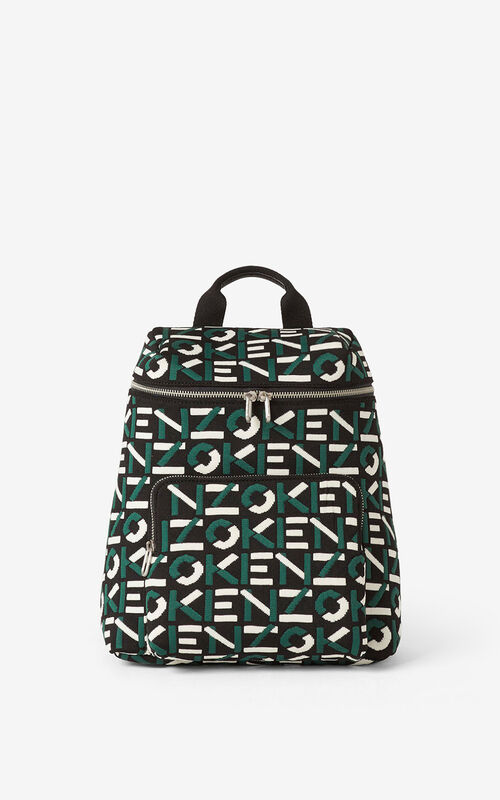 GREEN Skuba monogrammed backpack for men KENZO