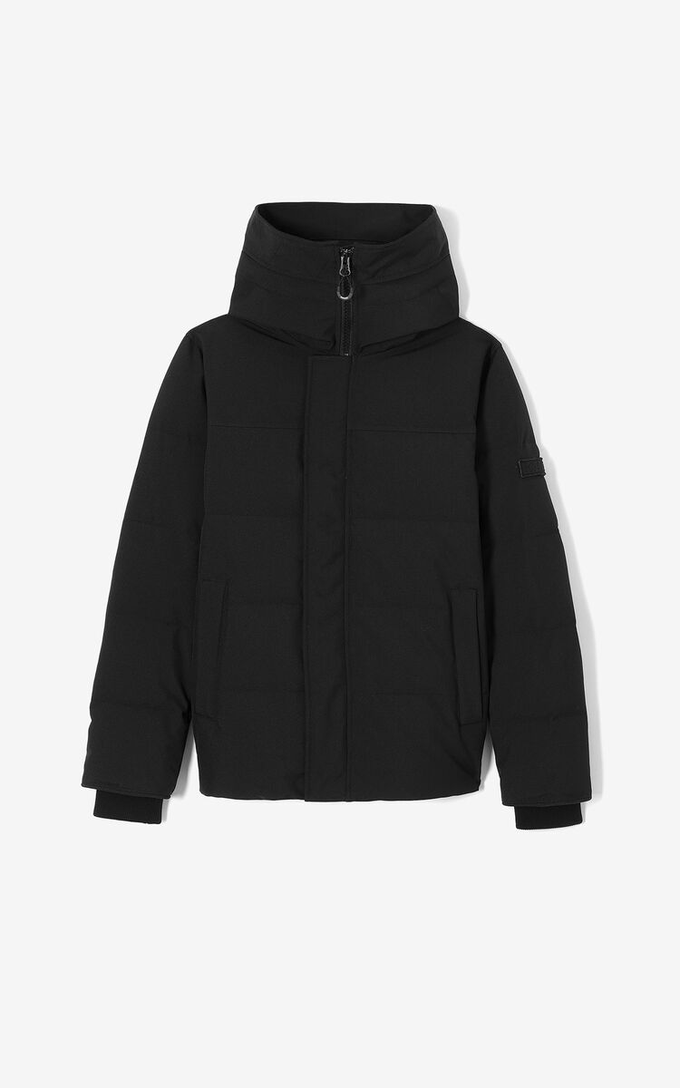 BLACK Quilted puffer jacket for women KENZO