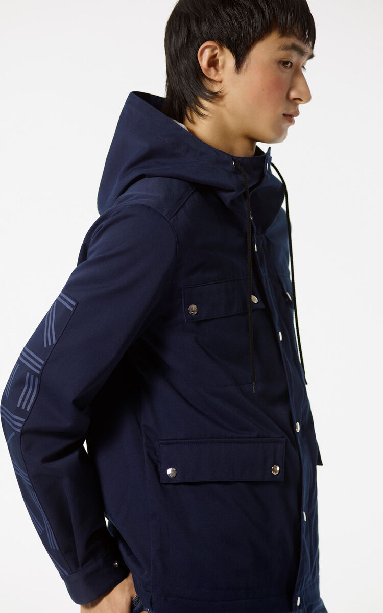 MIDNIGHT BLUE KENZO PARIS hooded jacket for women