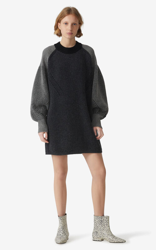 BLACK 'Fisherman' dress for women KENZO