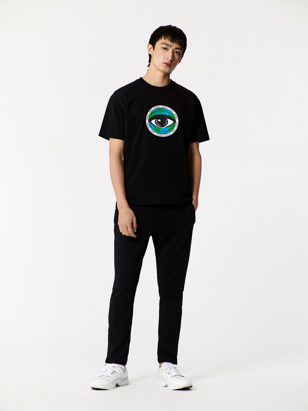 BLACK Tapered sweat pants for men KENZO