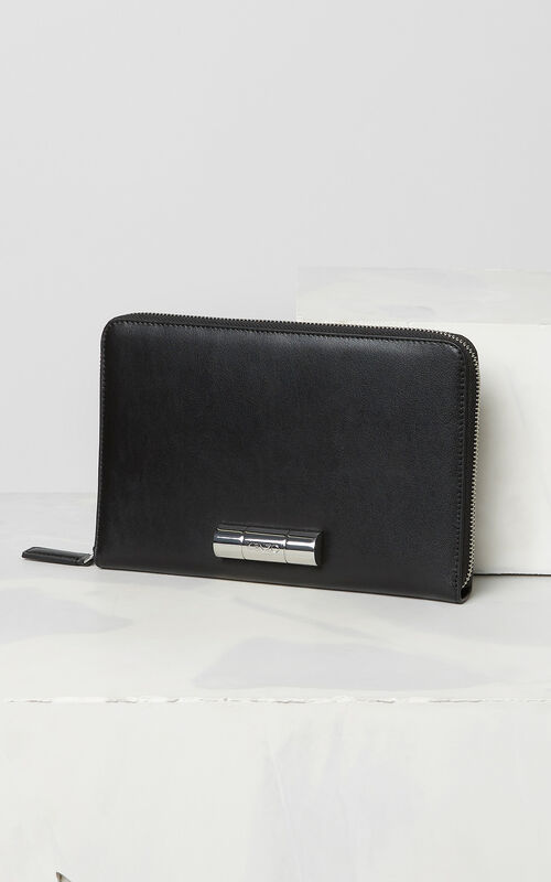 BLACK A5 Sailor clutch for unisex KENZO