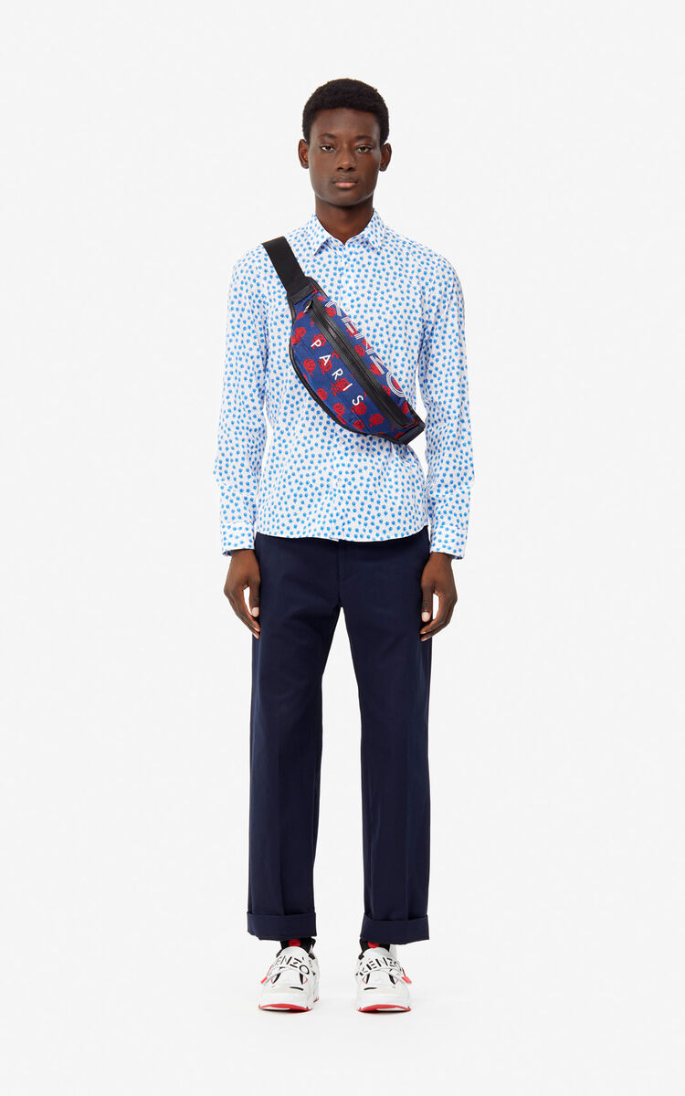 WHITE 'Roses' slim-fit shirt for men KENZO
