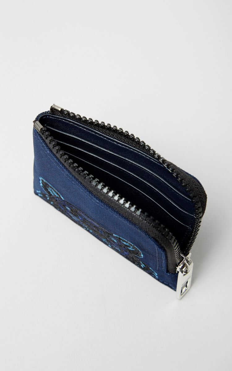 NAVY BLUE Zipped Tiger wallet for unisex KENZO