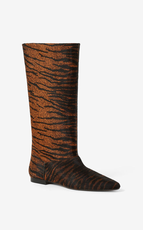CAMEL K-Line leather boots for unisex KENZO