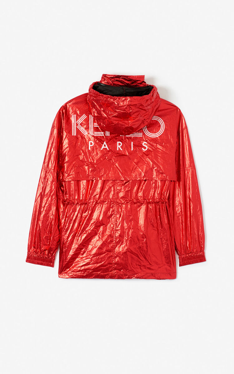 VERMILLION KENZO logo shiny windstopper 'Exclusive Capsule' for women