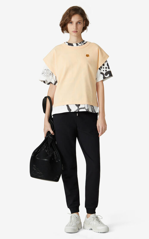 PEACH Tiger Crest boxy T-shirt for women KENZO
