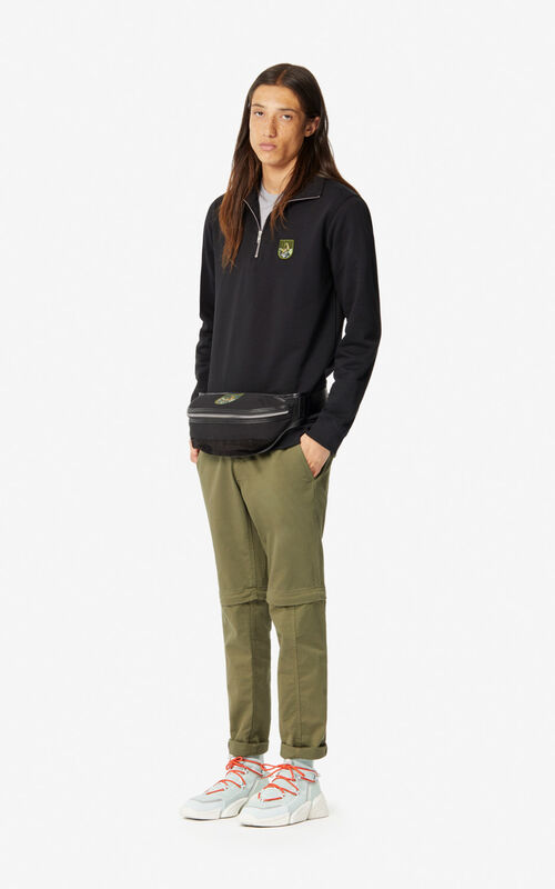 BLACK 'Tiger Mountain' 'Capsule Expedition' zipped sweatshirt for women KENZO