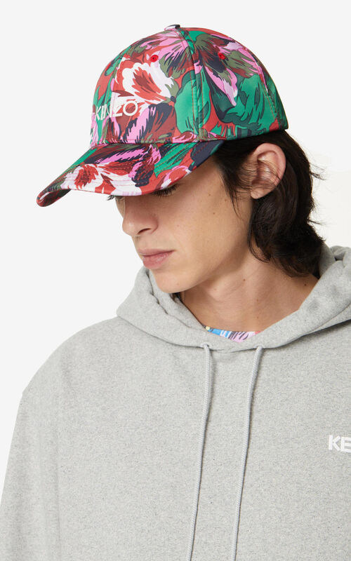 MEDIUM RED 'Tulipes' cap for women KENZO