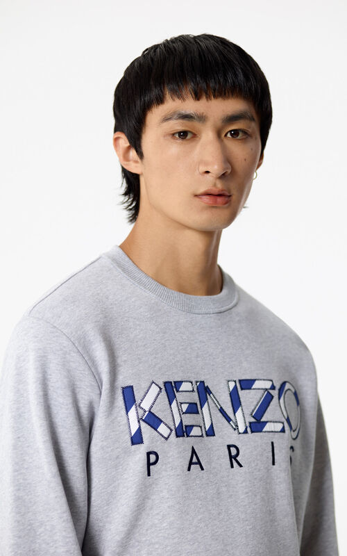 PALE GREY KENZO Paris sweatshirts for men