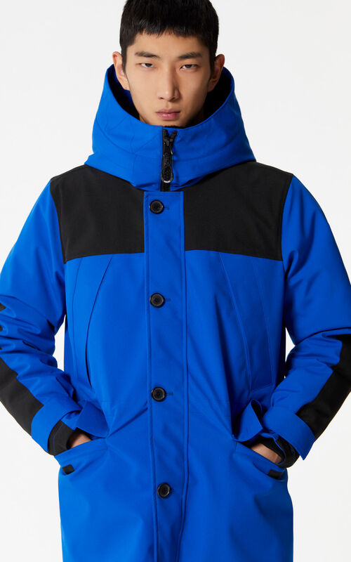 FRENCH BLUE Hooded parka for men KENZO