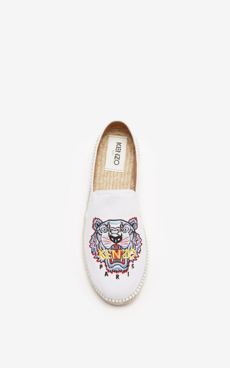 WHITE Tiger elasticated espadrilles for unisex KENZO