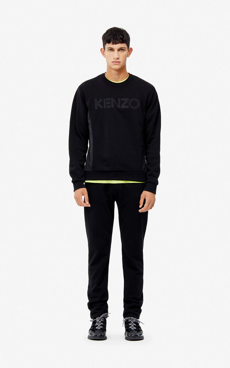 BLACK Dual material sweatshirt for women KENZO