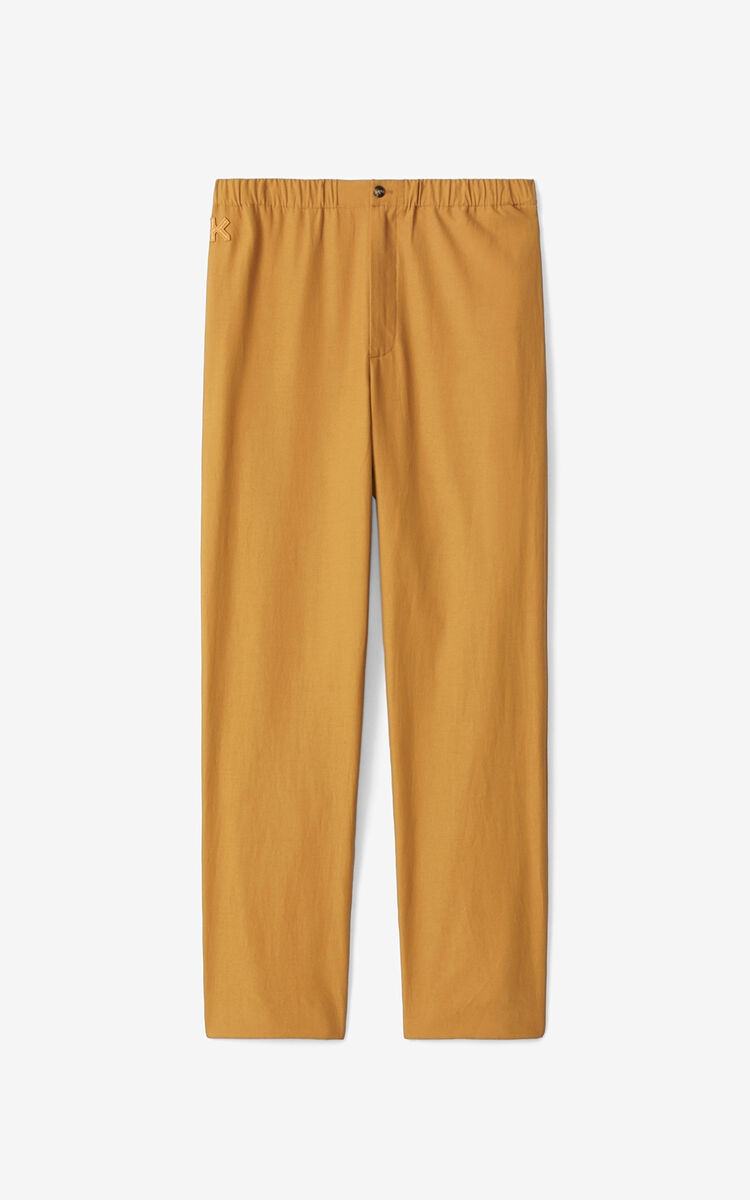 DARK BEIGE K joggers for men KENZO