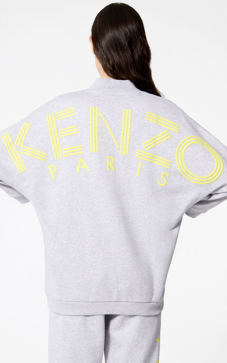 PALE GREY KENZO Logo sweatshirt for women