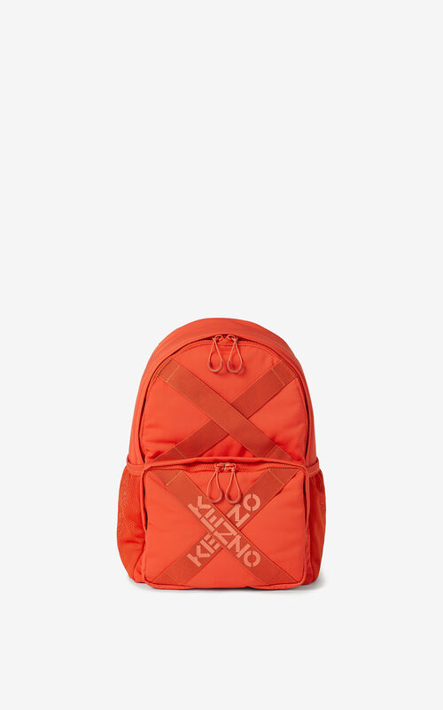 DEEP ORANGE KENZO Sport backpack for unisex