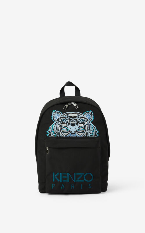BLACK Canvas Kampus Tiger backpack  for unisex KENZO