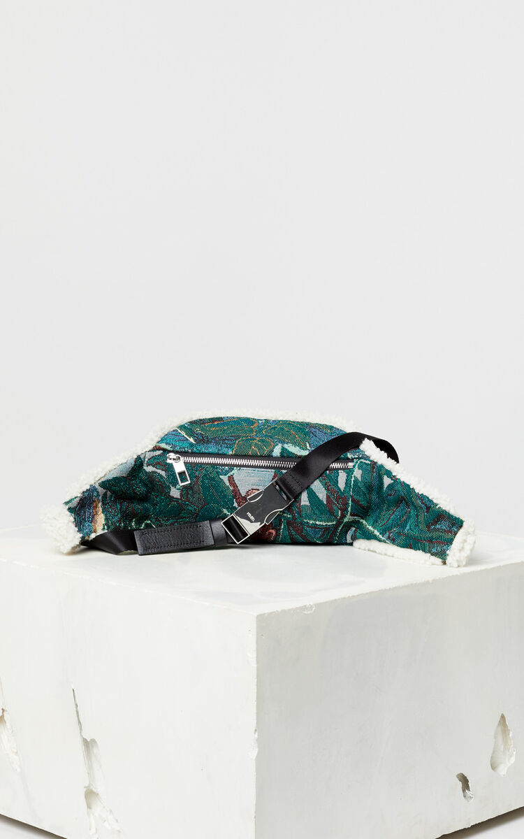 BOTTLE GREEN Jacquard bumbag for women KENZO