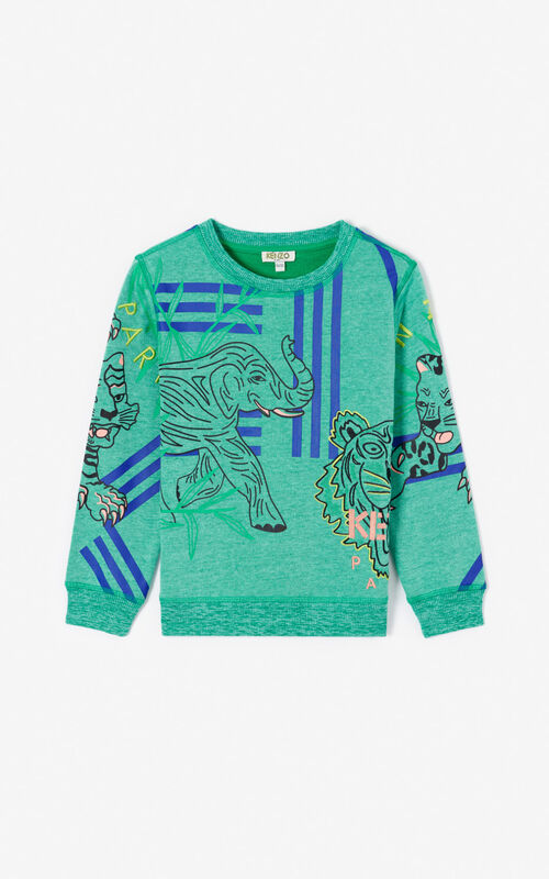 MINT 'Disco Jungle' multi-icon sweatshirt for unisex KENZO