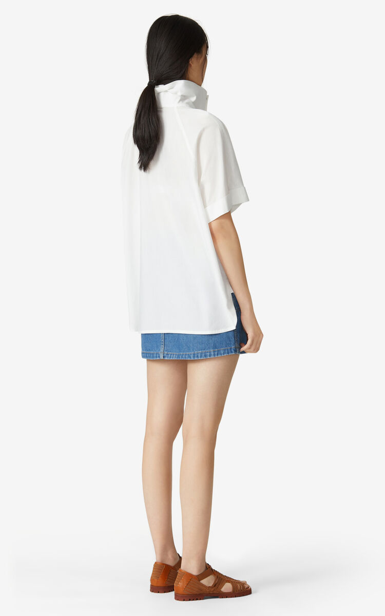 WHITE Buttoned top for women KENZO