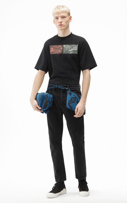 BLACK Cropped jeans for women KENZO