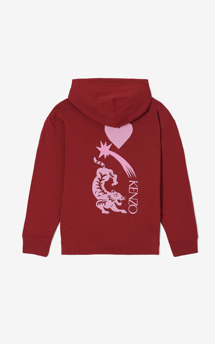 BORDEAUX 'Lucky Star' hooded sweatshirt for women KENZO