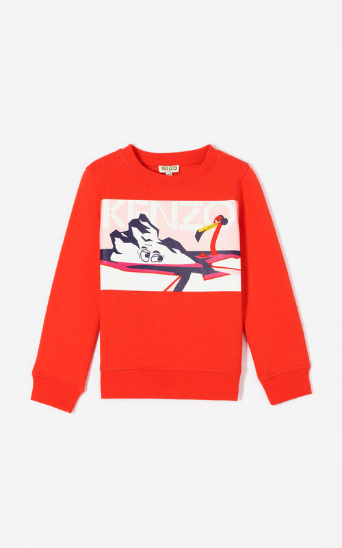DEEP ORANGE 'Frozen' sweatshirt for women KENZO