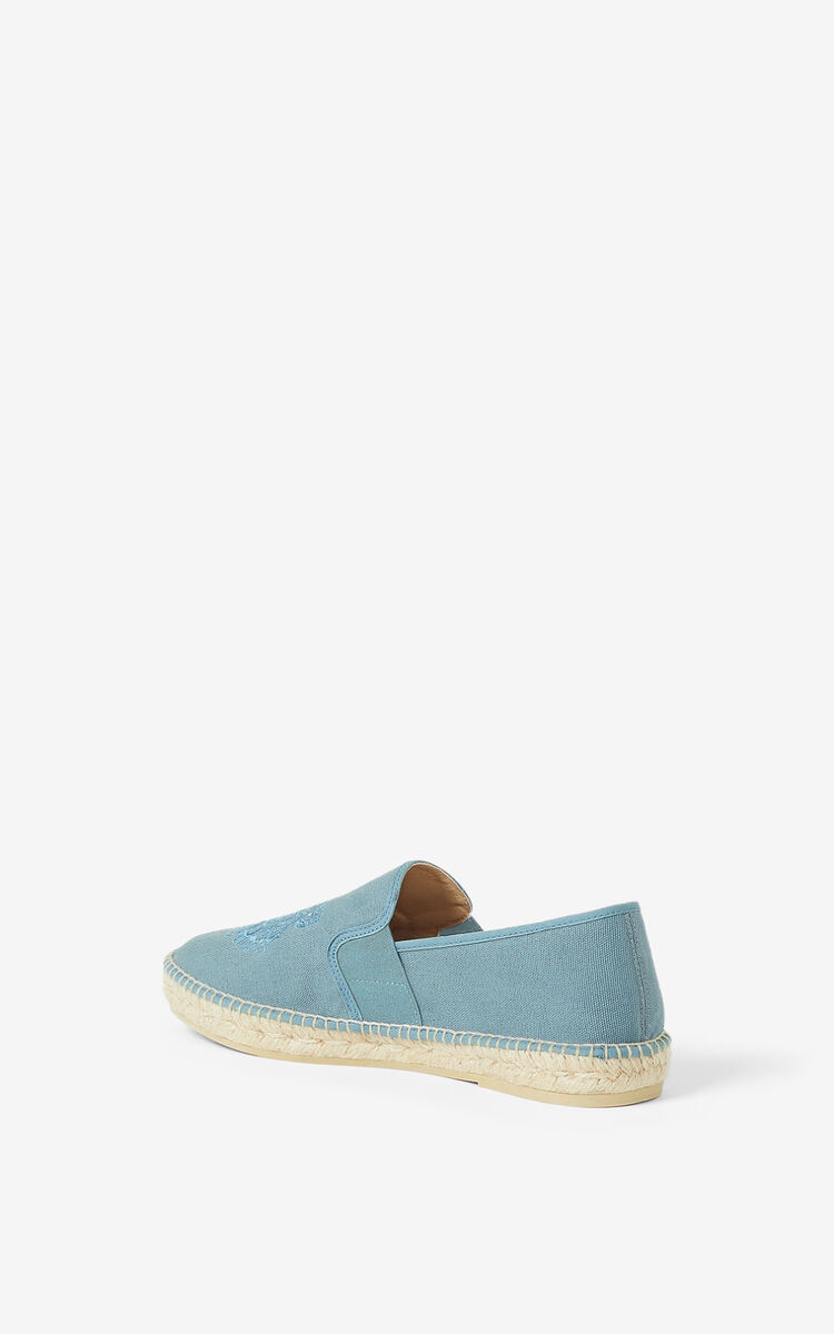 GLACIER Tiger stretch canvas espadrilles for unisex KENZO