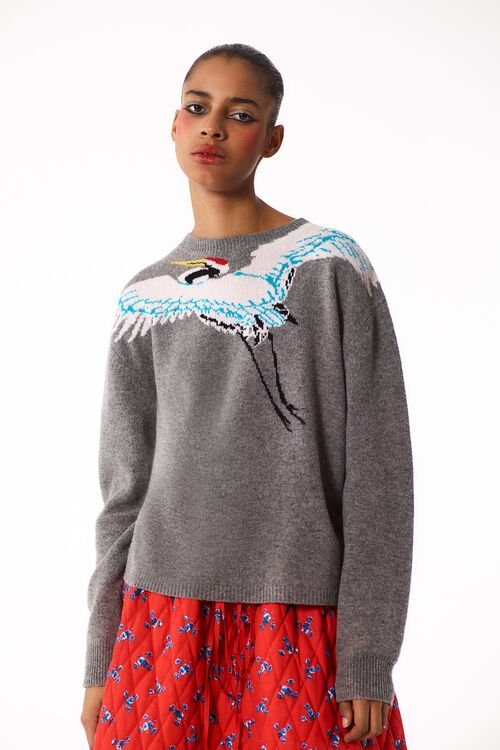 DOVE GREY Crane' Sweater for women KENZO
