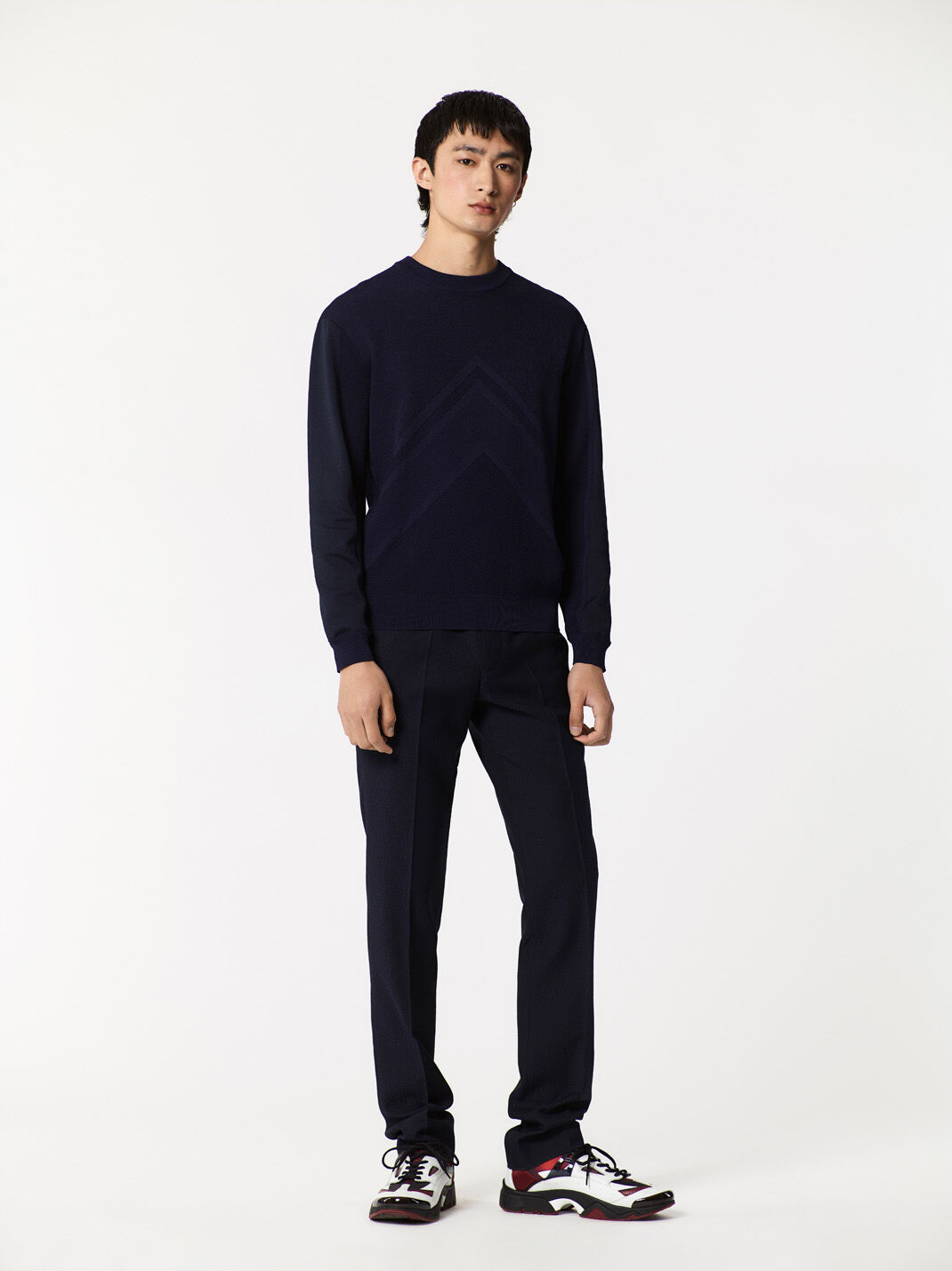 NAVY BLUE Knitted Sweater for men KENZO