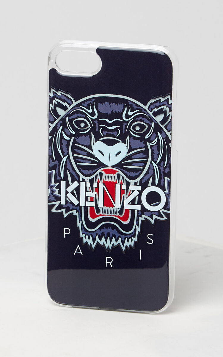 NAVY BLUE 3D Tiger iPhone 7/8 case for unisex KENZO