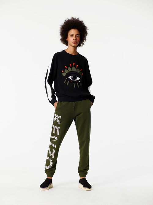 DARK KHAKI KENZO Logo Sweat Pants for women