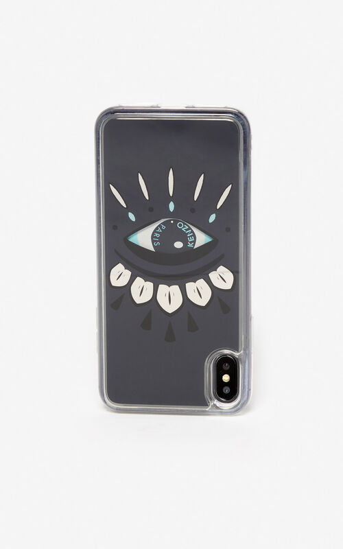 DARK GREY Eye case for iPhone XS Max for unisex KENZO