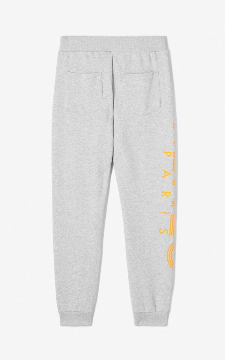PALE GREY KENZO Logo joggers for global.none